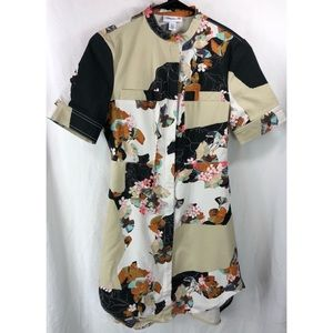 3.1 Phillip Lim Target floral shirt dress zip 5733